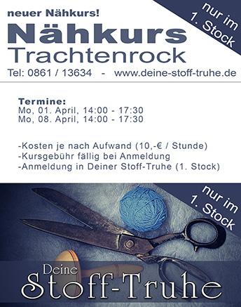 Flyer Nähkurs in Traunstein